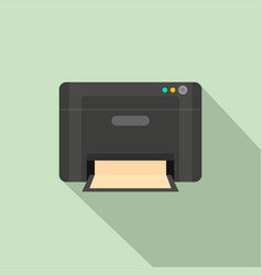 black printer icon flat style vector image