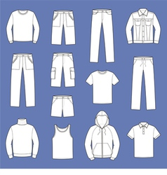 Casual clothes vector image