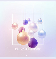 christmas background with baubles and place for vector image