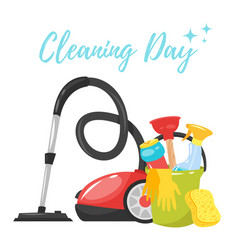 cleaning service tools banner vector image
