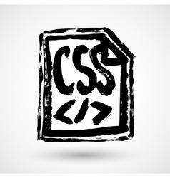 Coding design icon vector image