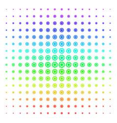cog shape halftone spectral effect vector image
