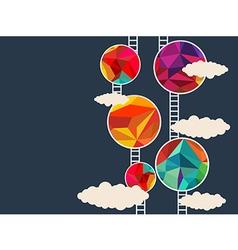 colorful circle vector image