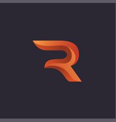 Creative letter r logo concept design vector