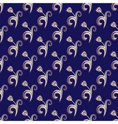 Dark blue seamless pattern vector