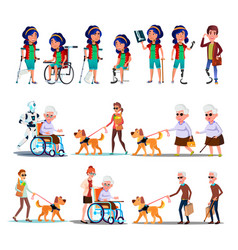 different character person invalid set vector image