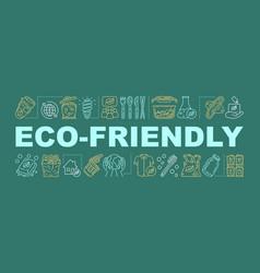 Eco-friendly word concepts banner presentation vector