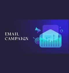 email marketing campaign digital lead generation vector image