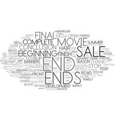 Ends word cloud concept vector