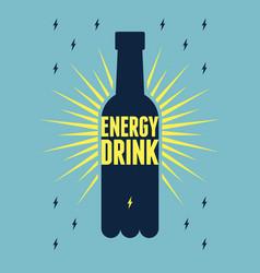 Energy drink bottle vintage style poster design vector