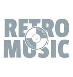 festival retro music logo simple gray style vector image