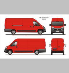 Fiat ducato cargo delivery van 2017 l4h2 vector