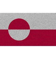 Flags Greenland on denim texture vector