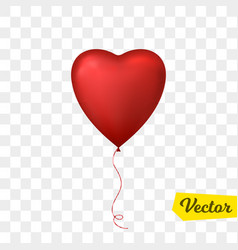 flying heart shaped balloon vector image