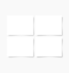 four pieces blank sheet white paper vector image