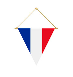 French triangle flag hanging vector