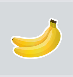 fresh bananas sticker tasty ripe fruits icon vector image