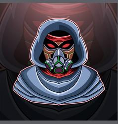 Gas mask esport mascot logo vector