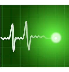 Green heart beat Ekg graph vector
