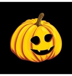 Halloween pumpkin icon in cartoon style Jack o vector image