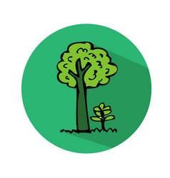 hand drawn tree icon vector image