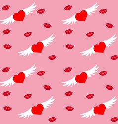 Hearts and Wings vector