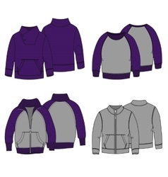 Hoodies 3 Color vector