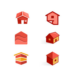 house color concept design template vector image