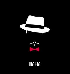 Italian mafia man gangster emblem person vector