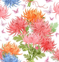 lovely seamless texture with bouquet of vector image