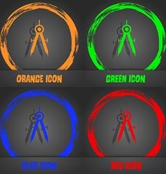 Mathematical Compass sign icon Fashionable modern vector