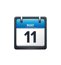 May 11 calendar icon flat vector