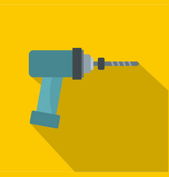 Medical drill icon flat style vector