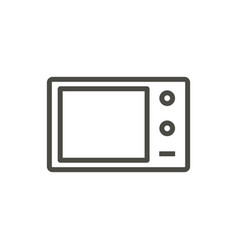 microwave icon outline cooking line micro vector image