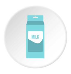 Milk icon circle vector