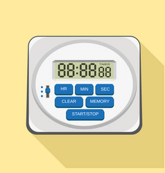 modern kitchen timer icon flat style vector image
