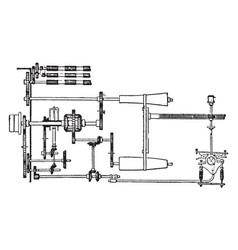 Motion gear vintage vector
