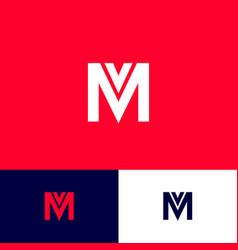 mv monogram concept letters vector image
