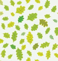 Oak leaves seamless pattern vector image