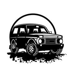 Off road car - truck 4x4 suv - off-road car and vector