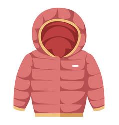 Parka for children warm winter puffy coat vector
