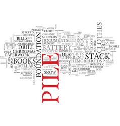 Pile word cloud concept vector