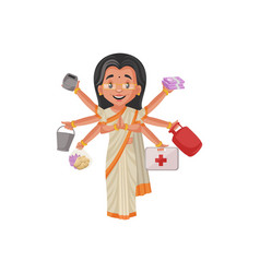 Politician lady cartoon character vector