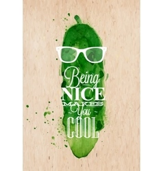 Poster Mr Cucumber vector image