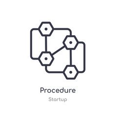 Procedure outline icon isolated line from startup vector