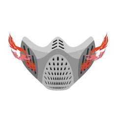 Protective mask respirator future fantastic space vector