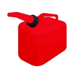 Red gas can icon cartoon style vector