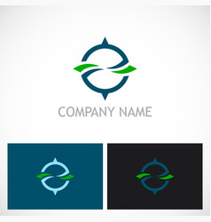 round arrow abstract eco logo vector image