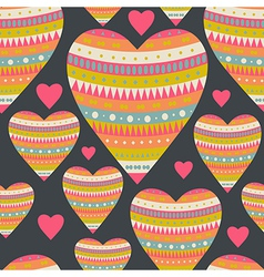 Seamless pattern with hearts for Valentines Day vector image