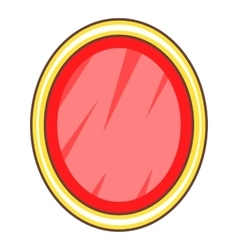 Shield in the form of an oval icon cartoon style vector